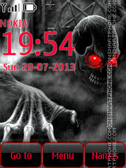 Skeleton with red Eyes tema screenshot