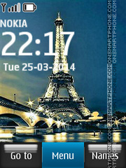 Eiffel Tower and Bridge in Paris Theme-Screenshot