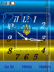 Ukraine Flag Clock theme screenshot