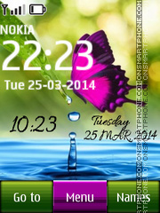 Butterfly HD Digital theme screenshot