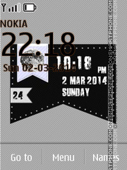 Banner Homepage Clock theme screenshot