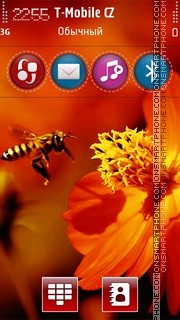 Bee and Flower theme screenshot