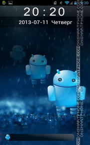 Cute Android Robot theme screenshot