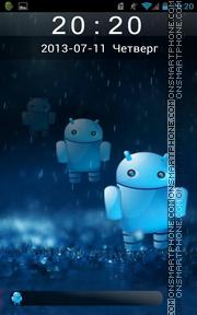 Скриншот темы Cute Android Robot