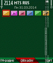 Green-Cover theme screenshot