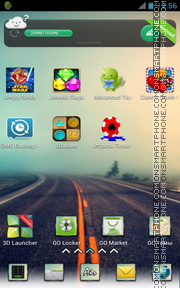 Скриншот темы Highway and Air