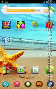 Summer SeaStar theme screenshot