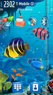 Digital Aquarium tema screenshot