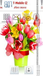 Beautiful Tulips for 5800 es el tema de pantalla