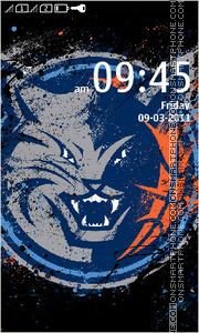 NBA Charlotte Bobcats theme screenshot