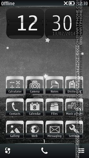 Night Stars tema screenshot