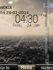 iPhone Digital City Clock theme screenshot