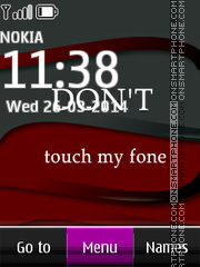 Dont Touch My Phone 02 tema screenshot