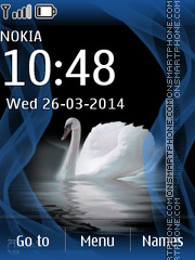 Swan 01 tema screenshot