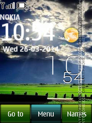 Stunning Field Live Clock tema screenshot
