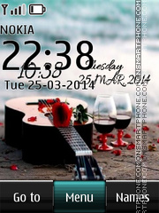 Romantic Beach Bar Digital tema screenshot