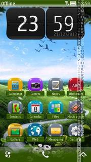 Summer Home HD Skin es el tema de pantalla