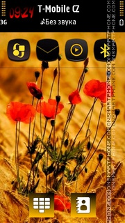 Red Spring HD Flower theme screenshot