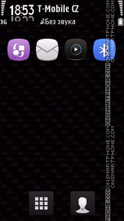 Dark Home Screen tema screenshot
