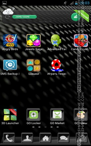 Скриншот темы Carbon Fiber 01