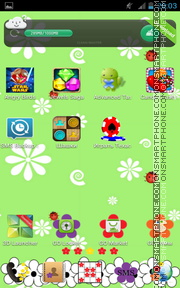 Flower Pattern tema screenshot