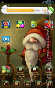 Santa 2016 theme screenshot