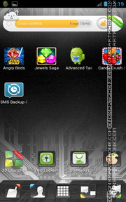 Скриншот темы Microcircuit GO Launcher EX Theme
