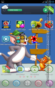 Tom and Jerry 11 theme screenshot