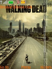 Walking Dead tema screenshot