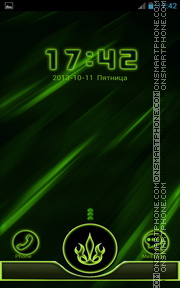 Neon Green Style theme screenshot