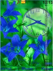 Capture d'écran Flower blue thème