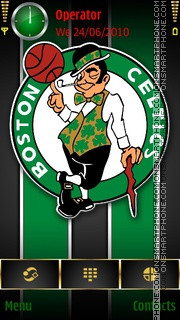 Boston Celtics tema screenshot