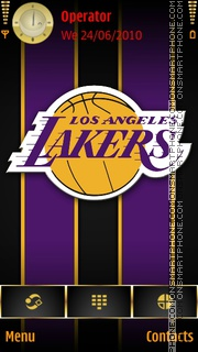 Los Angeles Lakers theme screenshot