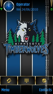 Minn Timberwolves theme screenshot