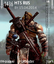 Warrior theme screenshot