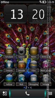 Peacock HD Screen es el tema de pantalla