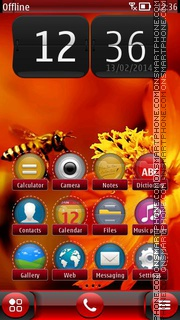 First Spring Bee theme screenshot