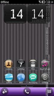 Gray Nokia Phone Personalization es el tema de pantalla
