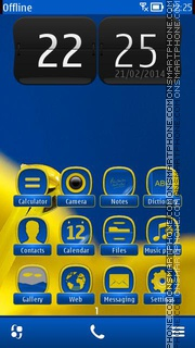 Yellow Flower 05 theme screenshot