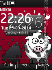 Crazy Cow tema screenshot
