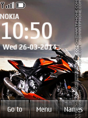 Cool Speed Bike theme screenshot