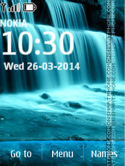 Blue Waterfall theme screenshot