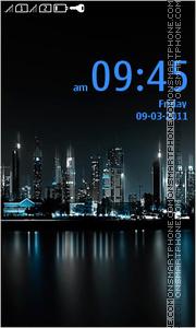 Modern City At Night Theme-Screenshot