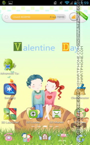 Valentine Day 07 tema screenshot
