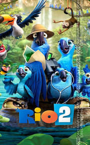 Rio 2 Theme for CLauncher es el tema de pantalla