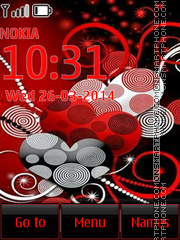 Colourant Lite Hearts tema screenshot
