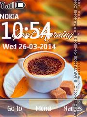 Good Morning Coffee tema screenshot