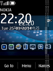 Blackberry Pro 320x240 theme screenshot
