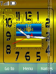 Ukraina Clock tema screenshot
