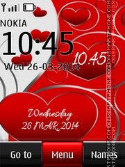 Love Digital Clock 06 tema screenshot